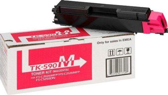 Kyocera Tonerpatrone »Kyocera TK-590M, original, 1T02KVBNL0, magenta«