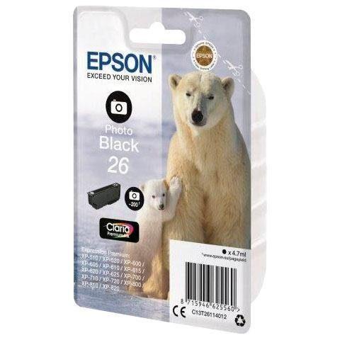 Epson »EPSON Photo black 26 PREMIUM INK (C13T26114012)« Tintenpatrone