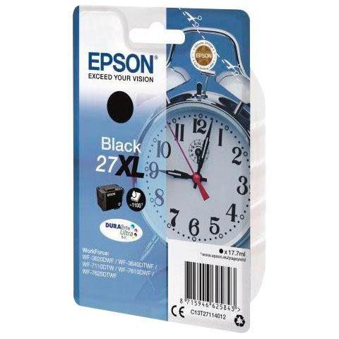 Epson »T2711, 27XL Original Schwarz C13T27114012« Tintenpatrone