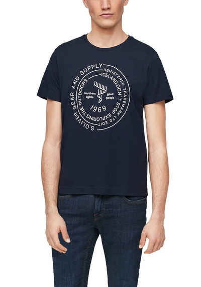 s.Oliver T-Shirt mit Schrift-Print