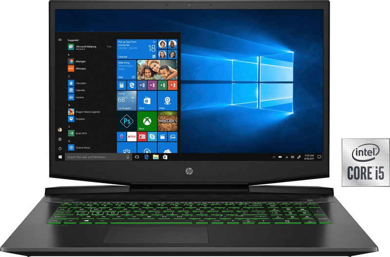 HP Pavilion Gaming 17-cd1255ng Notebook (43,9 cm/17,3 Zoll, Intel Core i5 10300H, GeForce GTX 1650 Ti, 512 GB SSD, Kostenloses Upgrade auf Windows 11, sobald verfügbar)