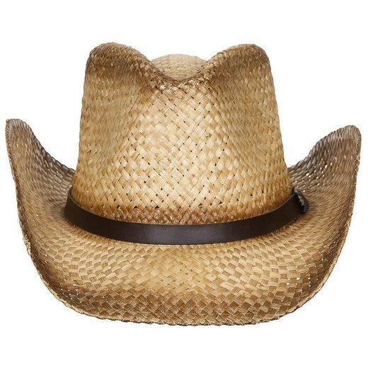 FoxOutdoor Strohhut »Strohhut, mit Hutband, braun« elastischem Kopfband