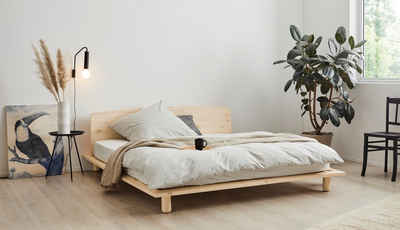 OTTO products Einzelbett »Aileen«, aus Kiefer massiv, vegan, Design by Leonhard Pfeifer