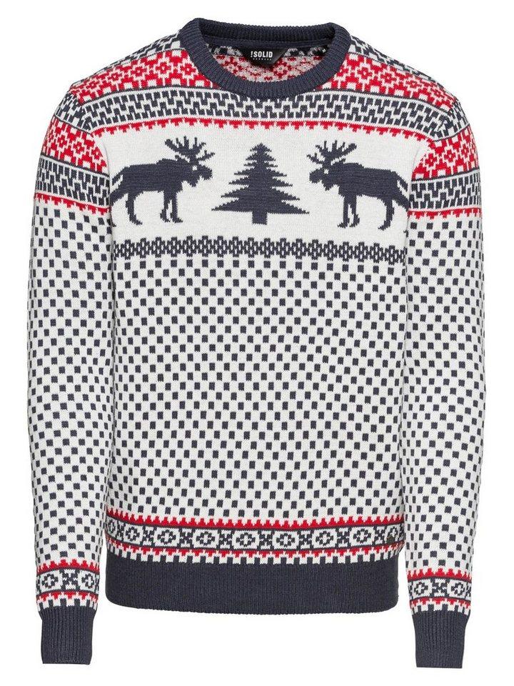 Solid Norwegerpullover »Knit - Tobey« | Bekleidung > Pullover > Norwegerpullover | Weiß | Solid