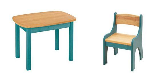 BioKinder - Das gesunde Kinderzimmer Kindersitzgruppe »Levin«, mit Tisch und Stuhl, Sitzhöhe 30 cm