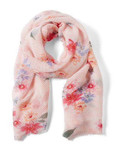 TOM TAILOR Modeschal »Plissée-Schal mit Blumenmuster«