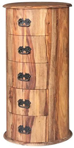 KAWOLA Beistelltisch groß mit Schubladen rund »GINA«