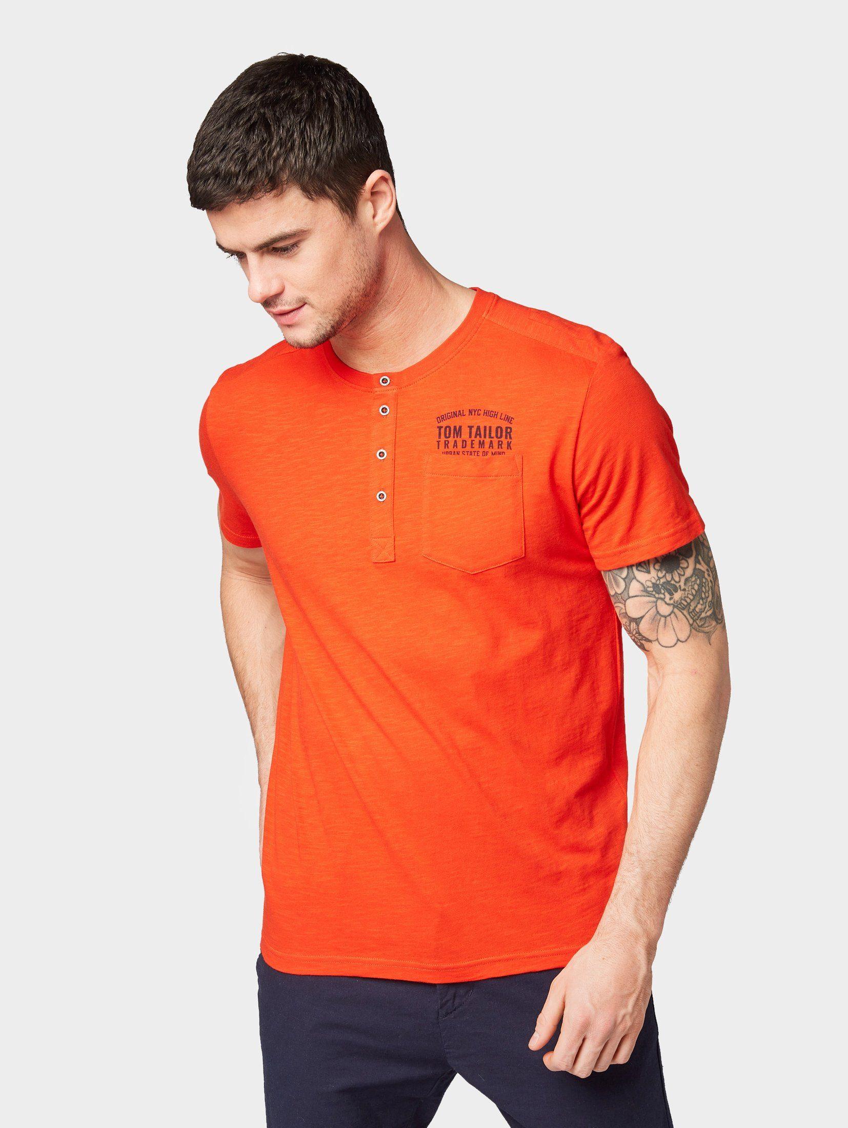 TOM TAILOR T-Shirt »T-Shirt in Henley-Optik«