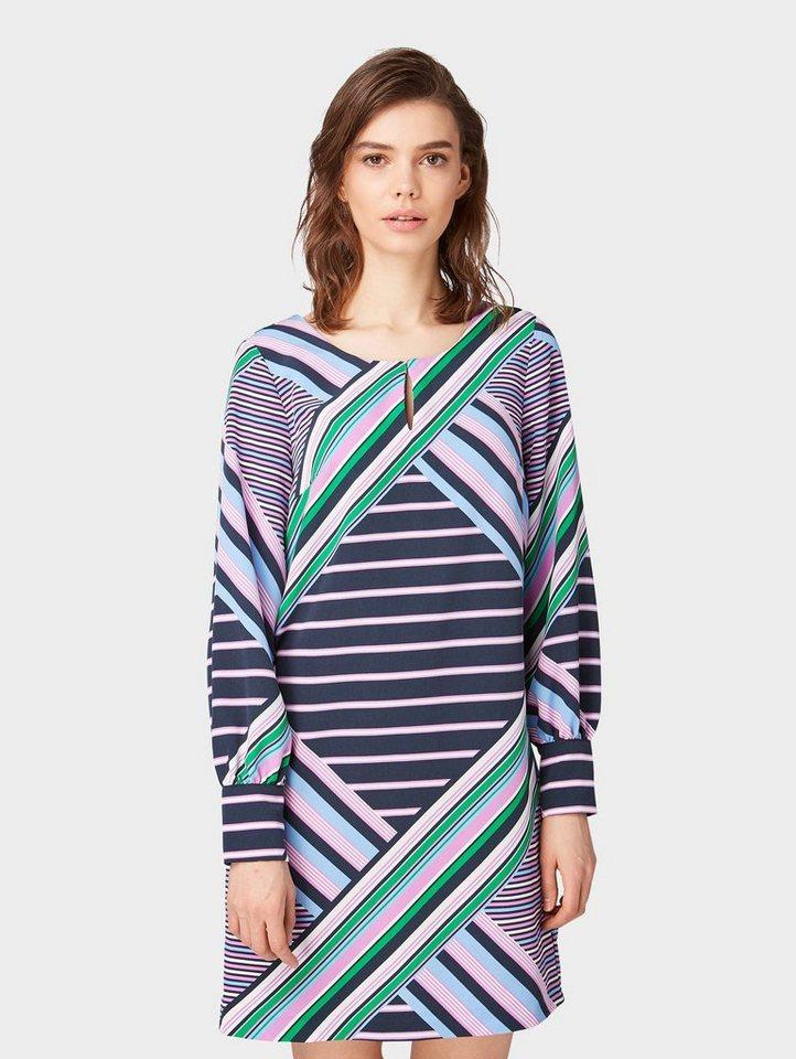 tom tailor blusenkleid »gemusterters kleid« kaufen | otto