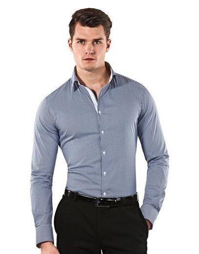 Vincenzo Boretti Langarmhemd im Body Fit-Schnitt mit bügelleichter Eigenschaft