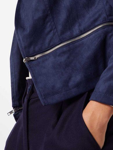 Jacket Bikerjacke Navy »vmvictoria Short Suede Vero Lcs« Moda Fake rBWxoCed