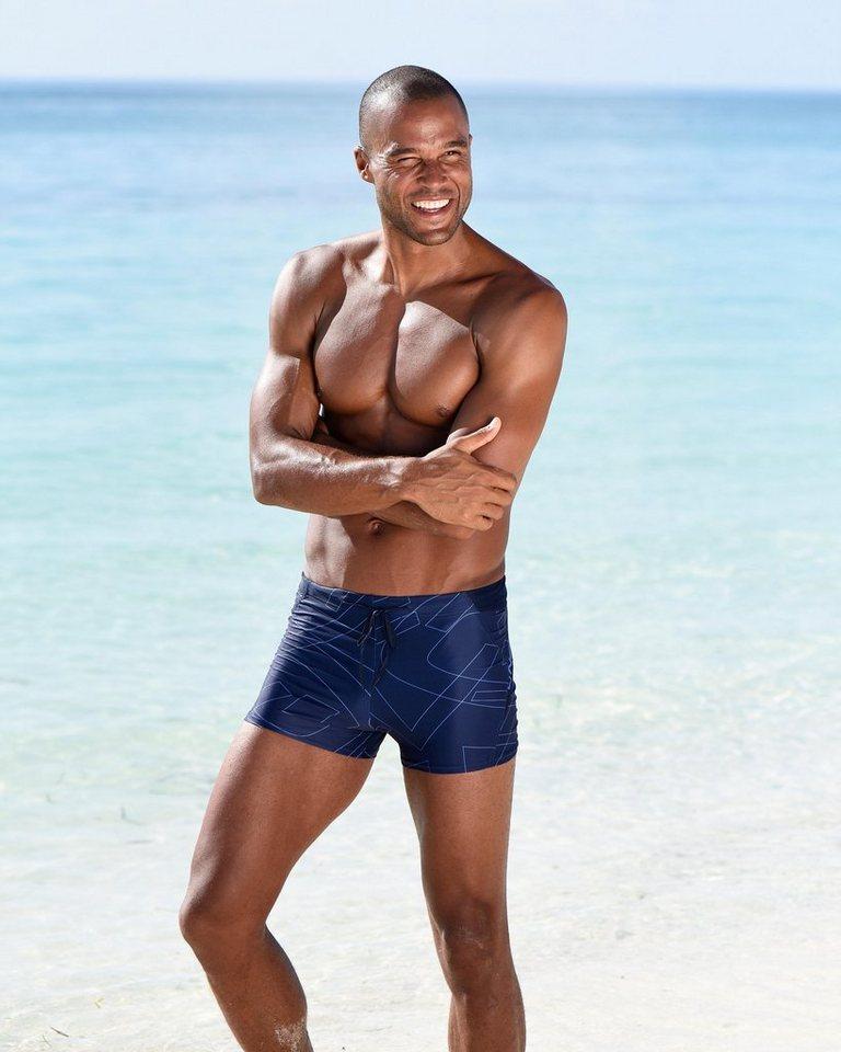 O´Neill Boxer-Badehose, mit dezentem Druck   Bekleidung > Bademode > Boxerbadehosen   Blau   Polyamid - Elasthan   O´Neill