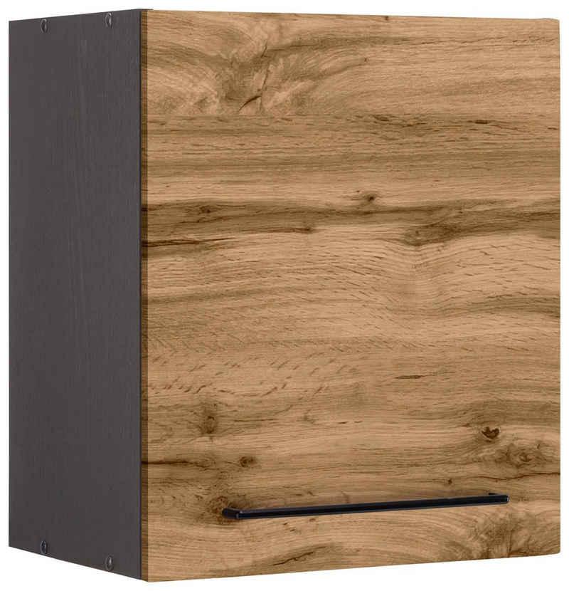 HELD MÖBEL Hängeschrank »Tulsa« 50 cm breit, 57 cm hoch, 1 Tür, schwarzer Metallgriff, hochwertige MDF Front
