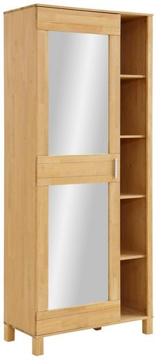 Home affaire Garderobenschrank »Jossy« mit Spiegel, aus massiver Kiefer, Breite 85 cm