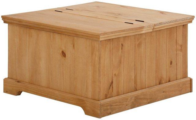 Home affaire Truhentisch »Athen«, mit zwei Klappen, aus massivem Kiefernholz, Breite 80 cm | Wohnzimmer > Tische > Truhentische | home affaire