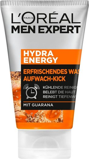 L'ORÉAL PARIS MEN EXPERT Waschgel »Hydra Energy Aufwach-Kick«, reinigt & pflegt die Haut mit Guarana