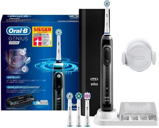 Oral B Elektrische Zahnbürste Genius 10000N Black, Aufsteckbürsten: 4 St.