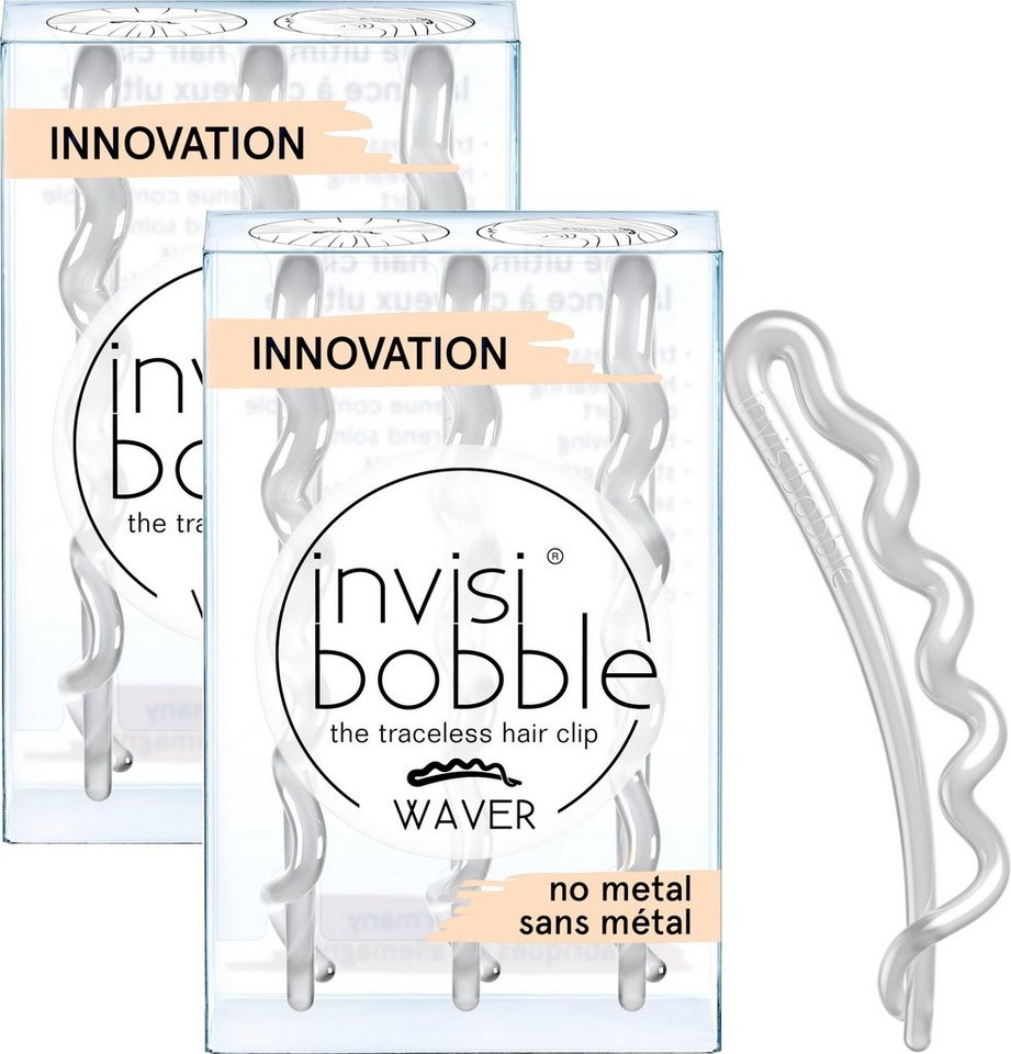 invisibobble -  Haarspange »WAVER«, Set, 6-tlg., Crystal Clear