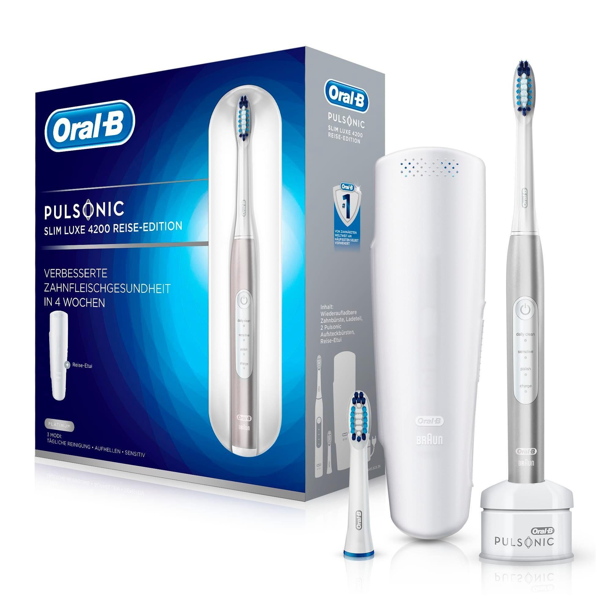 Oral B Schallzahnbürste Pulsonic Slim Luxe 4200, Aufsteckbürsten: 2 St.