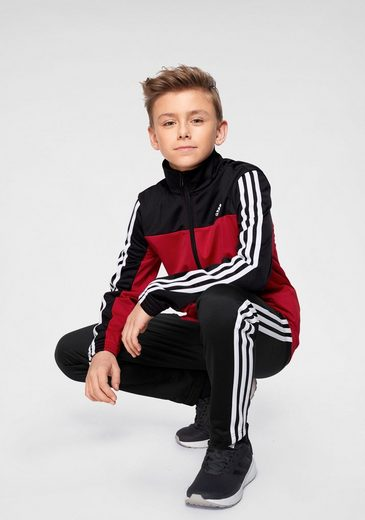 adidas Performance Trainingsanzug »BOYS POLYESTER 3 STRIPES TRACKSUIT«