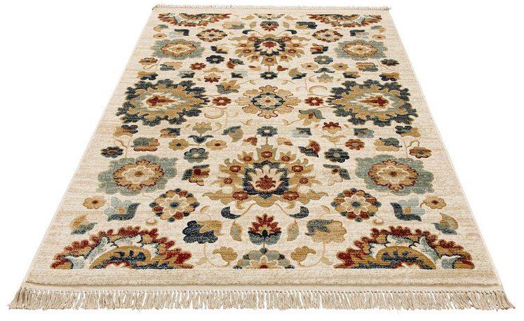 Teppich »Sorina«, DELAVITA, rechteckig, Höhe 10 mm, mit Fransen