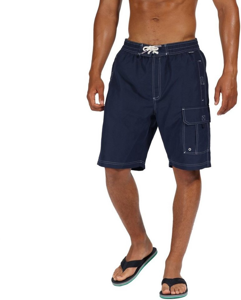 Herren Regatta  Hose Hotham Board Shorts Men blau | 05057538335192