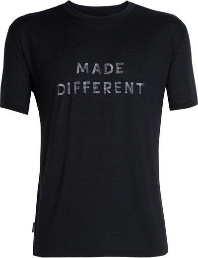 Made Ss »tech Crewe T shirt Shirt Men« Schwarz Different Icebreaker Lite Fc3TJK1lu