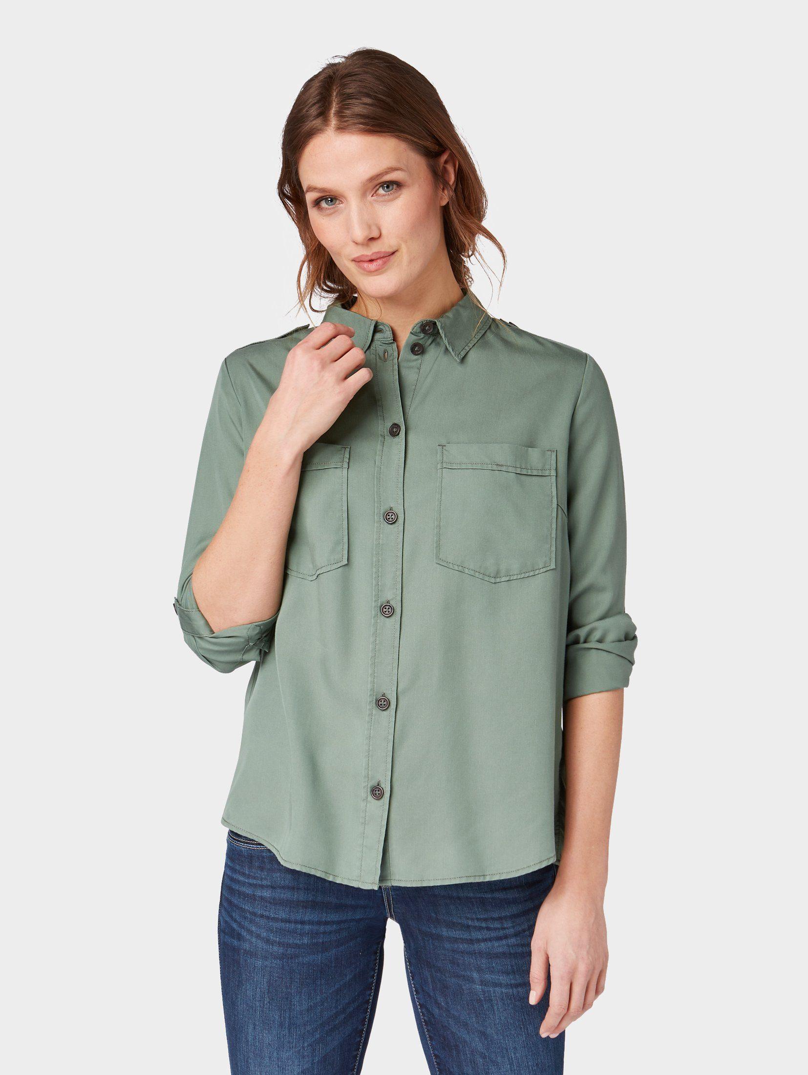 TOM TAILOR Shirtbluse »Bluse mit Taschen«