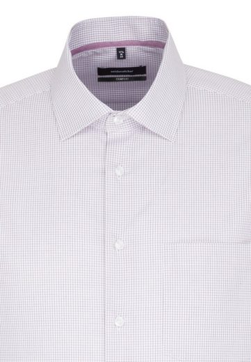 »comfort« kragen Langarm Kent Comfort Businesshemd Seidensticker Karo vfO6W1f