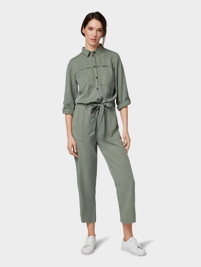 TOM TAILOR Jumpsuit »Jumpsuit mit Stoffgürtel«