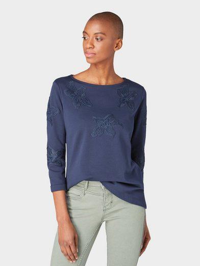 TOM TAILOR Sweatshirt »Sweatshirt mit Spitzen-Besatz«