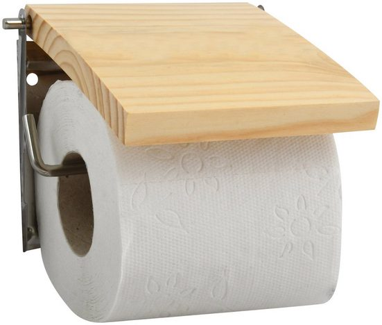 MSV Toilettenpapierhalter Kiefernholz