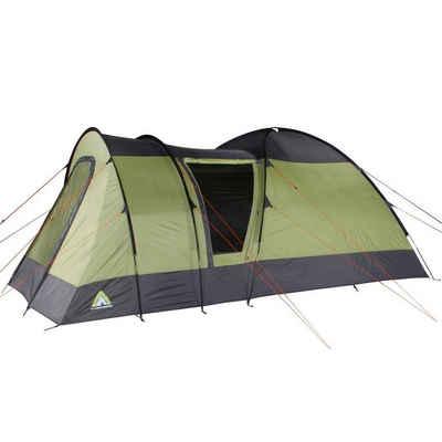 10T Outdoor Equipment Kuppelzelt »10T Mailand 4 - 4 Personen Kuppelzelt, Campingzelt mit riesiger 8,6 m² XXL Schlafkabine, wasserdichtes Trekking Zelt mit«, Personen: 4