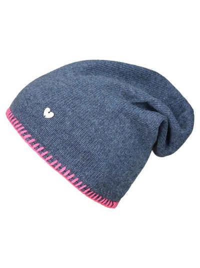 Zwillingsherz Beanie »Mütze mit Häkelrand«