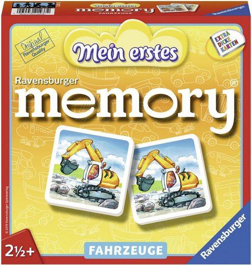 Ravensburger Spiel, »Mein erstes memory® Fahrzeuge«, mit extra dicken Karten; Made in Europe, FSC® - schützt Wald - weltweit