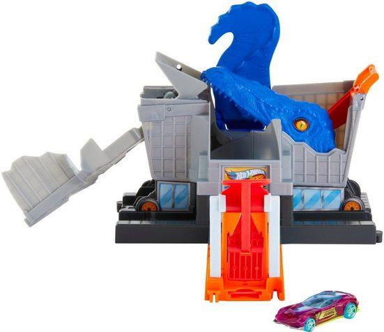 Hot Wheels Autorennbahn »City Dino T-Rex Supermarkt-Alarm«