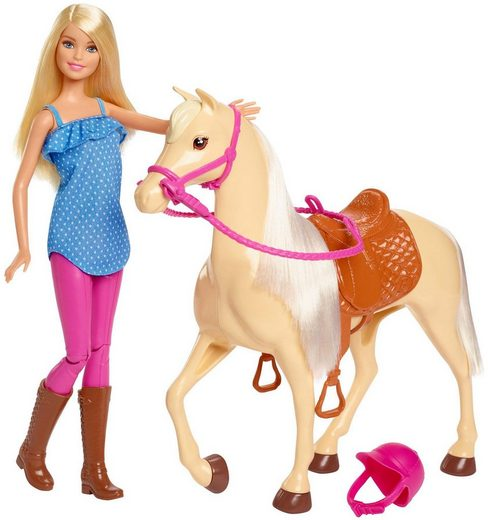Mattel® Anziehpuppe »Barbie Pferd mitPuppe«, Spielset
