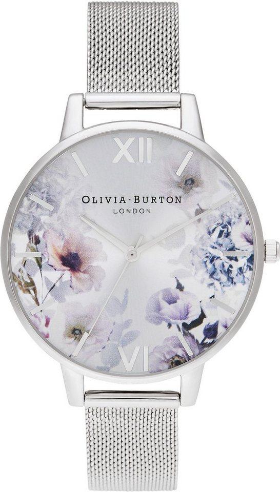 Damen OLIVIA BURTON Quarzuhr »Enchanted Garden, OB16EG117« silber | 07613272319843