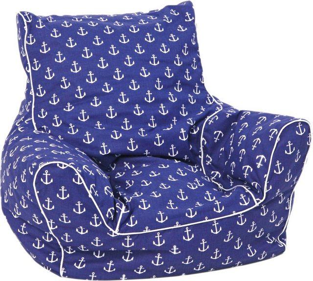 Sitzmöbel - Knorrtoys® Sitzsack »Maritim Blue«, für Kinder  - Onlineshop OTTO