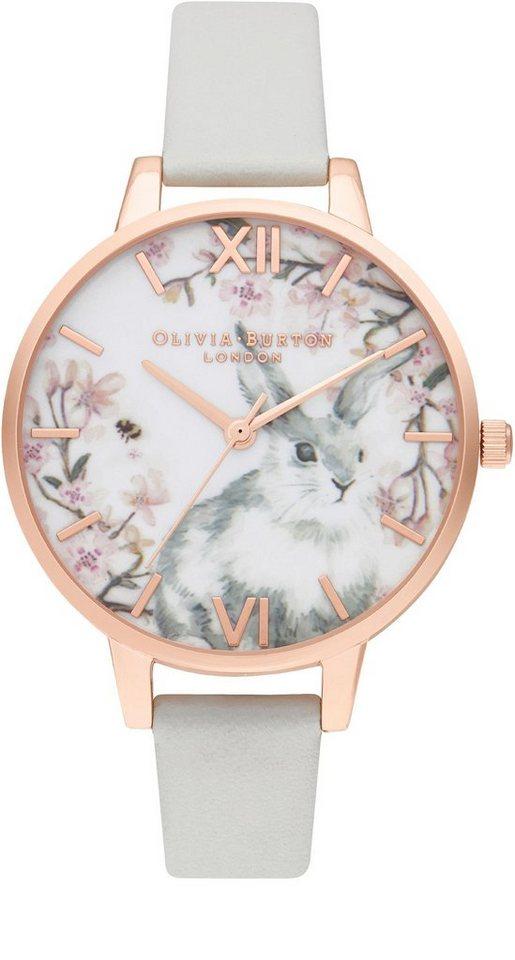 Damen OLIVIA BURTON Quarzuhr »Pretty Blossom, OB16WL72« grau | 07613272320030