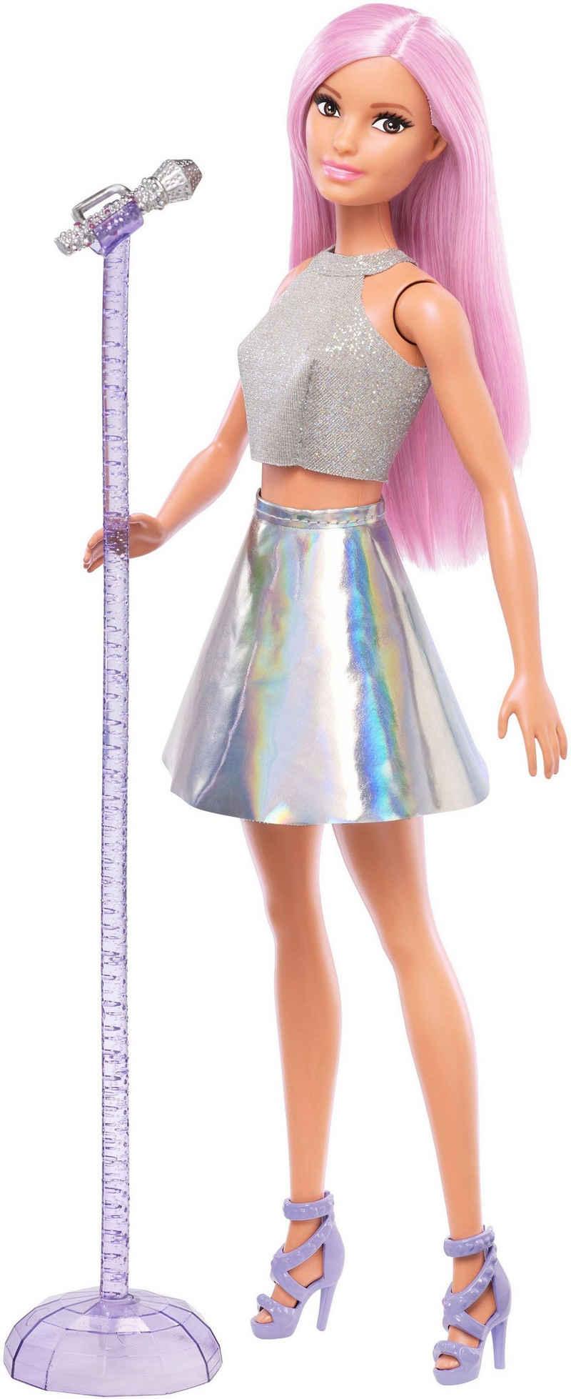 Barbie Anziehpuppe »Sängerin Puppe, pinke Haare«