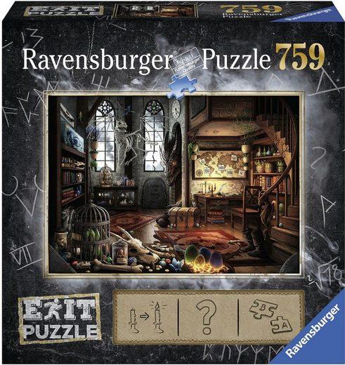 Ravensburger Puzzle »Puzzle Exit 5: Im Drachenlabor«, 759 Teilig, Softclick Technology