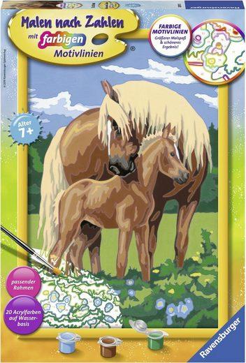 Ravensburger Malen nach Zahlen »Liebevolle Pferde«, Made in Europe, FSC® - schützt Wald - weltweit
