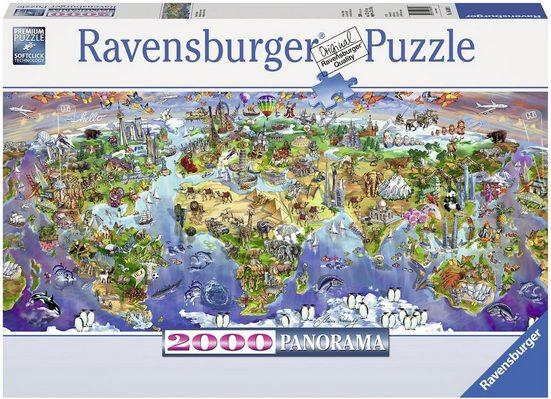 Ravensburger Puzzle »Wunder der Welt«, 2000 Puzzleteile, Made in Germany
