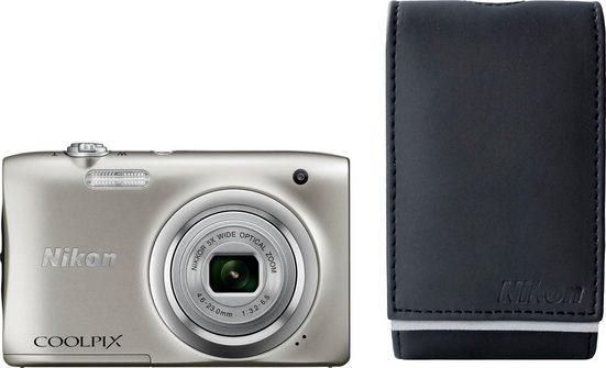 Nikon »Coolpix A100« Kompaktkamera (NIKKOR-Objektiv mit optischem 5-fach-Zoom, 20,1 MP, 5x opt. Zoom, + Tasche + 10€ Fotogutschein)