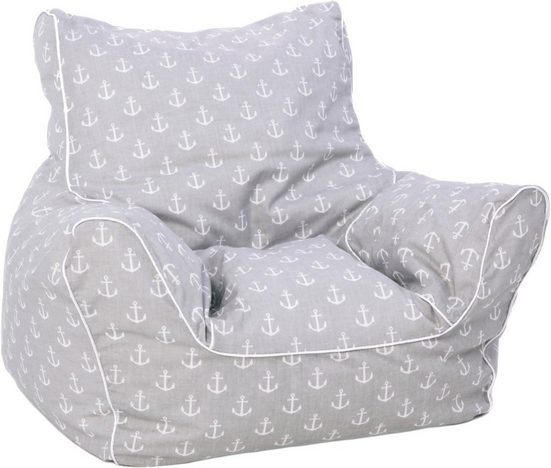 Knorrtoys® Sitzsack »Maritim Grey«, für Kinder