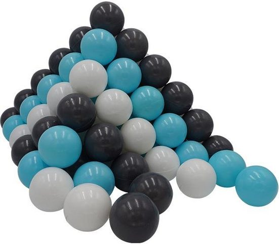 Knorrtoys® Bällebad-Bälle »100 Stück, creme/grey/blue«