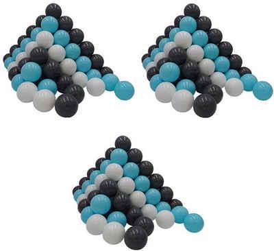 Knorrtoys® Bällebad-Bälle »300 Stück, creme/grey/blue«