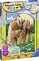 Ravensburger Malen nach Zahlen »Liebevolle Pferde«, Made in Europe, FSC® - schützt Wald - weltweit, Bild 3
