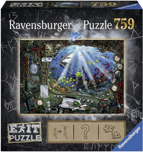Ravensburger Puzzle »Exit 4: Im U-Boot«, 759 Puzzleteile, Made in Germany